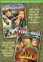 War Double Feature: Hell in Normandy (1968) / Five for Hell (1969) NEW DVD