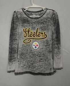 NFL Team Apparel size 4T Pittsburgh Steelers gray, long sleeved girls shirt