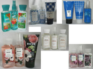 Bath & Body Works Shower Gel Cream Lotion Fragrance Mist 3 fl oz travel set of 3