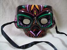 Colorful Zulu Mask Witch Doctor VooDoo Tribal Warrior Maori Polynesian Tiki Luau