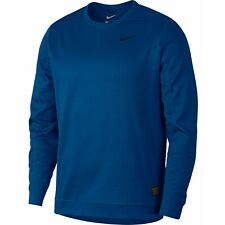 9869d5dce747 2019 Nike Therma Repel Top Crew Golf Sweater Gym Blue black Large