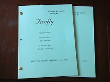 FIREFLY TV Series Color Cover Script Jaynestown EPISODE NATHAN FILLION 9/11/2002