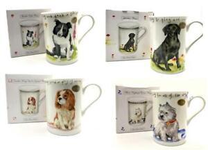 China Coffee Dog Mug Gift Boxed Jack Russell Westie Lab, Spaniel Yorkie Collie