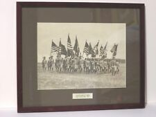 Vintage Military Photo Color Guard 4th Army Fort Lewis Washington 1937 Rare