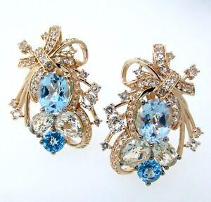 LeVian Crazy Collection® Topaz & Quartz 14K Strawberry Gold Large Earrings