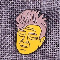 David Lynch soft enamel pin Simpsons retro 90s twin peaks blue velvet hat lapel