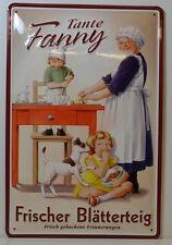 TANTE FANNY - FRAIS pâte feuilletée panneau métallique 20 x 30 cm (BS 350)