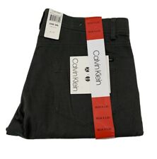 Calvin Klein Stretch straight Pants Mens NEW 34x30 Blackened Pearl 34x30 -- NEW