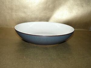 "denby energy charcoal & cream rimless soup / pasta bowl 8.5""  diameter"
