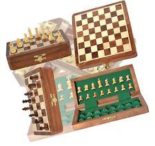 Chess Bazar - Magnetic Travel Pocket Chess Set - Staunton 7 X 7 Inch Folding