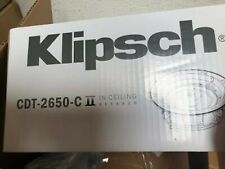 Klipsch CDT-2650-C-II White In-Ceiling Speaker(eh) adjustable tweeter and woofer