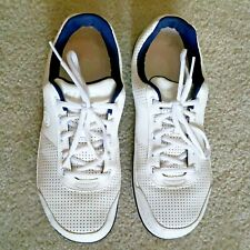 Crocs White/Blue Crocband Sneaker Casual Light Weight Shoes Size 9   #10935-126