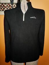 L@@K! MENS AUTHENTIC EDDIE BAUER BLACK FLEECE PULLOVER 1/4 ZIP SWEATSHIRT COAT M