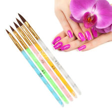 5Pcs Acrylic Nail Art UV Gel Carving Pen Brush Liquid Powder No. 2 4 6 8 10 New