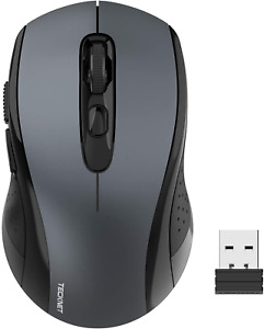 TECKNET Wireless Mouse 2.4G Optical Mouse with USB Nano Receiver for Notebook