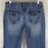 Nine West Bleecker Fit Bootcut Women's Size 8 Stretch Flap Pocket Denim Jeans