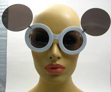 Super Oversized Big Round White Flip Up Mickey Mouse Sunglasses Glasses