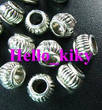 150 Pcs Tibetan silver 3mm hole drum spacers A1033