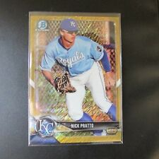Nick Pratto 2018 Bowman Chrome Gold Shimmer Parallel Kansas City Royals #30/50