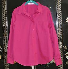 Foxcroft Wrinkle Free Cotton/Poly Fuchsia Pink Button Dwn Shirt Classic-NWOT-14P