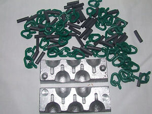 Pack of 50 Back Lead Mould Clips /& Rubbers