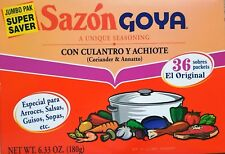 Sazon Goya Jumbo  Pak con culantro y achiote 1 Box (36 Packets) NET WT. 6.33 oz