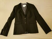 Womens Banana Republic Wool Jacket Blazer 10 Black