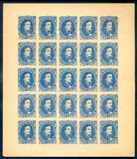 U.S.A. Confederate States 1862 5c blue reprinted sheet 25 (2018/12/14#12)