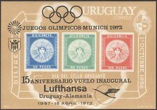 Uruguay 1972 Lufthansa/Aviation/Olympic Games/Sport o/print imperf m/s (n43531)