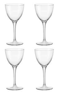 Bormioli Rocco Novecento Stemware Nick & Nora Glasses, Set of 4, 5.25 oz - Clear