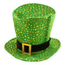 St Patrick's Day Novelty Fancy Dress Leprechaun Shamrock Pattern Hat
