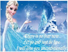 Frozen - Elsa - There is no fear now - iron on transfer 8 x 10 1/2