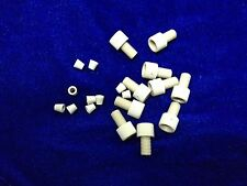 "Lot of 10 Short Fingertight PEEK Fittings 1/8"" x 1/4-28, Nut + Ferrule"