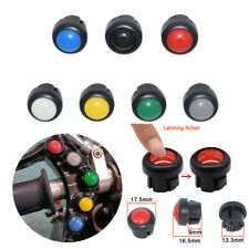 7x Round Motorcycle Latching Switch Push Button Key Replace Handlebar Control