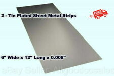 2 Tin Plated Sheet Metal Strips 6 Wide X 12 Long X 0008 Thick Mill Finish