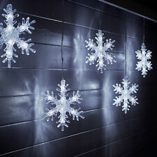 Outdoor LED Christmas Snowflake Star Icicle Curtain Lights PlugIn 2m Lights4fun