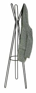 Home Contemporary Metal Coat Stand - Black