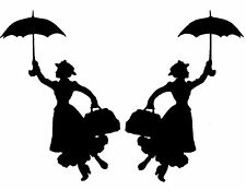 Etiqueta del vinilo de corte Adhesivos Para Coche Portátil Pared 2 X opuestas Mary Poppins