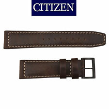 Citizen original Dark Brown Leather watch band Strap 22mm BM8478-01L