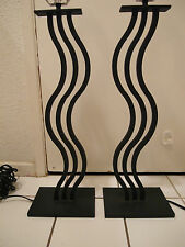 RARE PAIR 1980S MEMPHIS STYLE NEW WAVE DESIGN IRON TABLE LAMPS LAMP 80S MODERN