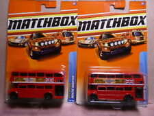 Matchbox Routemaster Bus Diecast Car Lot of 2: New In Package!
