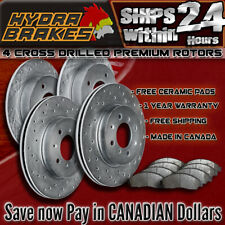 FITS 2004 2005 SUBARU IMPREZA WRX 2.0L Drilled Brake Rotors CERAMIC