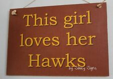 This Girl Loves Her Hawthorn Hawks Footy Aussie Rules Sign - Bar Pub Office Shed