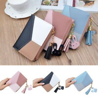 UK Women Short Small/ Money Purse Wallet Leather Folding Coin Card Holder