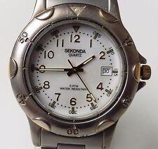 Gents Two Tone Sekonda 50m Quartz Date Bracelet Watch Working For Sale