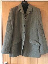 Penny Black Size 14 Grey Speckled Pockets Buttoned Lined Smart Business Jacket