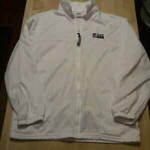 US OLYMPIC COMMITTEE TEAM USA WHITE ZIP UP JACKET - SIZE L -