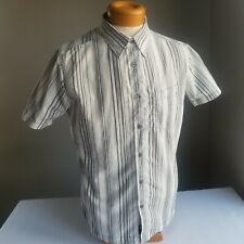 0066a62bf6 Kuhl Mens S Casual Shirt, Blue Gray Stripe Short Sleeve Button Front
