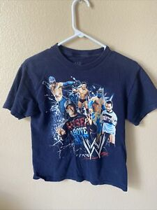 2012 WWE Youth T Shirt John Cena Sin Cara Rey Mysterio Superstars Size Medium