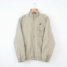 Vintage NIKE Beige Full Zip Bomber Style Jacket Coat Retro Athletic Air | Medium